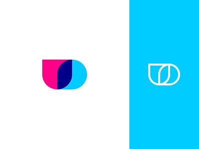 Undrop Logo Concept concept vibrant line mark abstract minimal logo