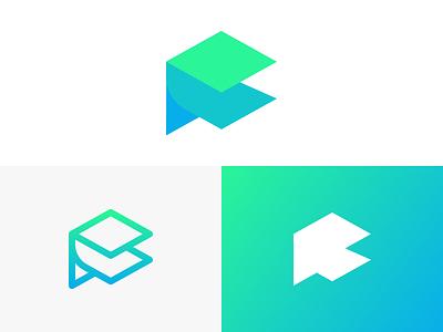 Fanara Branding line fresh minimal gradient mark logo branding