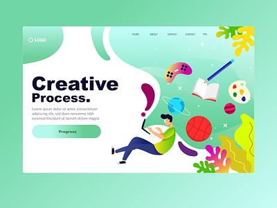 Landing Page design design illustration