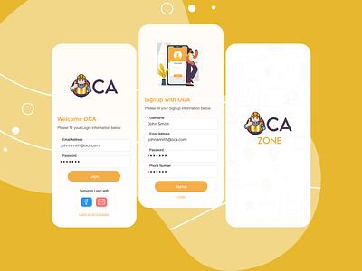 OCA Design App vector ui design