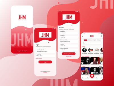 Video streaming App Designs mobile app ui design