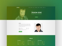 Myself Personal Portfolio Web Template gradient colorful clean resume cv modern creative simple template ui deisgn ux ui website web portfolio website portfolio personal myself