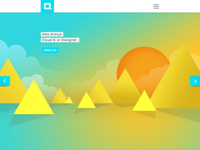 Personal Portfolio website portfolio minimal clean simple colorful responsive ui web