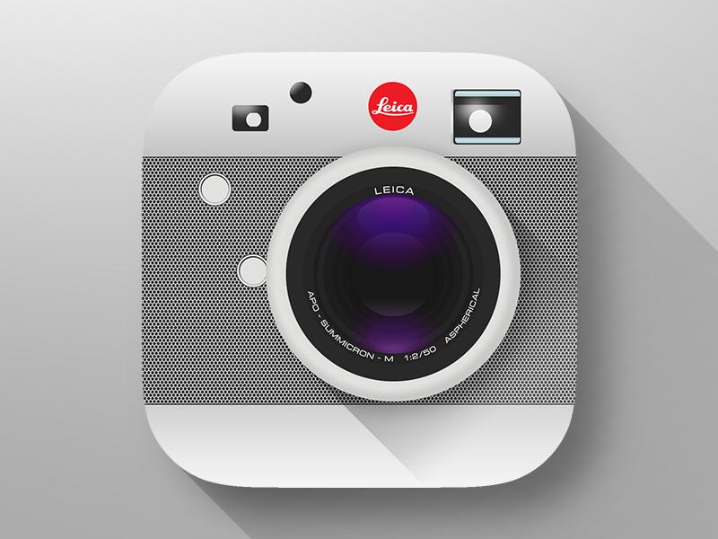 Leica M (RED) Camera Icon ios icon camera leica flat longshadow clean minimal