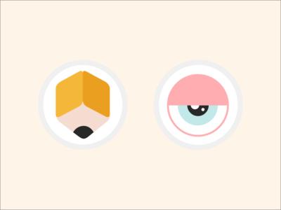 New Portfolio Icons ui icons clean flat colorful web