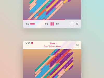 Mini Music Player ui itunes music mac clean music player mini music player