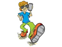Illustration of man with phone