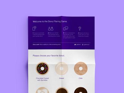 Donut Pairing Game