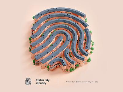 cartoon poster CIty identity isometric 3dmodeling cartooncity blender3d city poster 3dcity 3d