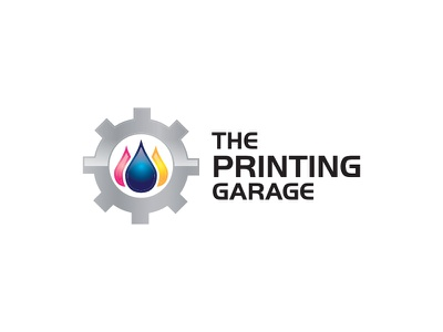 The Printing Garage printing vector pictorial illustration pictorial mark contest design logo