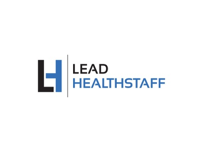 Lead Healthstaff healthy health typography letter mark letter logo letter vector contest design logo