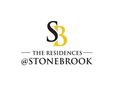 Stonebrook residence typography letter mark letter logo letter vector contest design logo