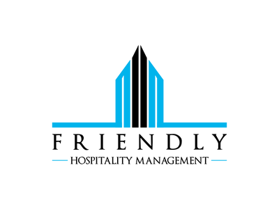 Friendly Hospitality Management real estate building pictorial illustration pictorial mark design vector contest logo