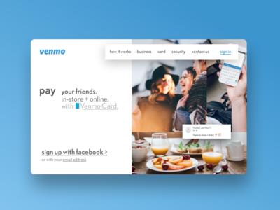 Daily UI Challenge - Venmo.com Redesign