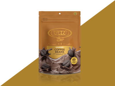 CORTÉS // covered coffee beans packaging puertorico packaging food chocolate