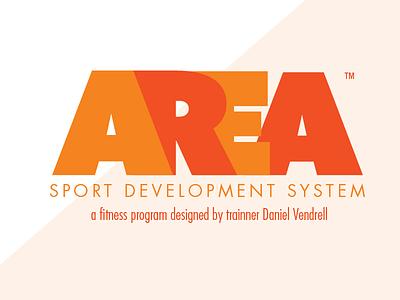 AREA Sports Development System orange branding sports brand logo