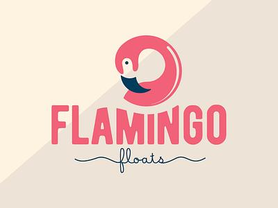FLAMINGO FLOATS puertorico flamingo system icon logo brand summer
