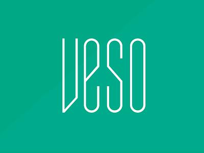 VESO // hair blower app green branding beauty brand logo