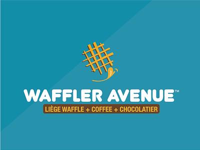 WAFFLER AVENUE // liége waffle + coffee + chocolatier puertorico food branding restaurant brand logo