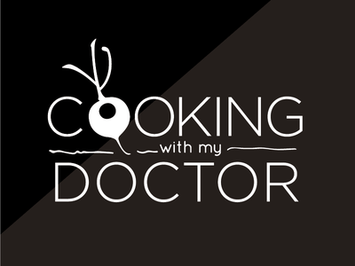 COOKING WITH MY DOCTOR // educational and products puertorico food branding healthy educational brand logo