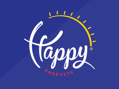 HAPPY PRODUCTS //  food packaging label