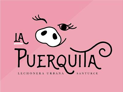 LA PUERQUITA // pork heaven restaurant puertorico food branding restaurant brand logo