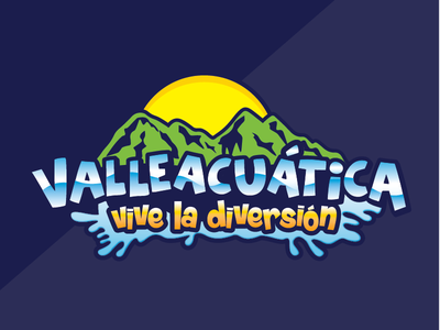 VALLEACUATICA // concept logo for coamo municipality fun adventure puertorico water park entertainment branding kids brand logo