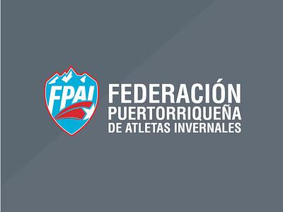FPAI // winter olympics team from puerto rico puertorico sports team winter branding winterolympics brand logo