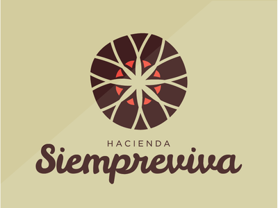 HACIENDA SIEMPREVIVA // guesthouse puertorico guesthouse branding travel brand logo