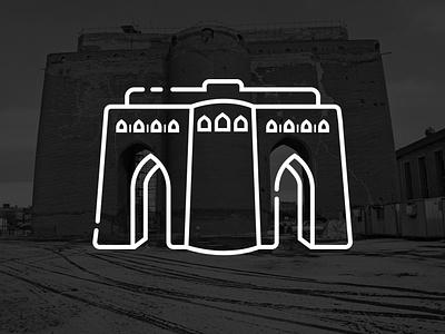 Arg of Tabriz icon artwork flat icon attractions tourism iran arg of tabriz tabriz landmark city vector illustration building icon design