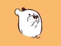 Bear doodle digital painting flat illustration