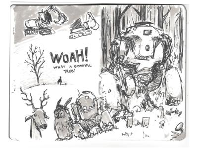 More sketchbook mechs doodle marker mecha mech conceptart