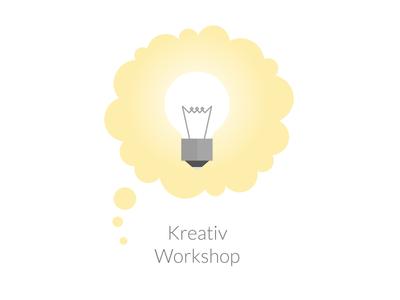 Creative Workshop Icon lightbulb flat icon illustration creative workshop