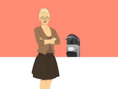 Coffee Customer illustration coffee customer web project illustration flat