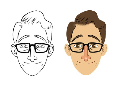 Marco Illustration Lineart & Color photoshop color lineart character design head illustration