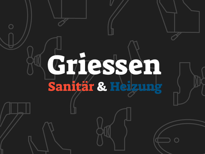 Griessen Black Dribbble black blue red icons outline branding