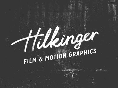 Hilkinger Logotype motion film lettering handmade vintage grunge