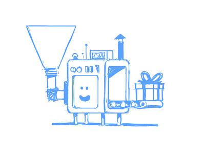 The Machine concept progress illustration machine