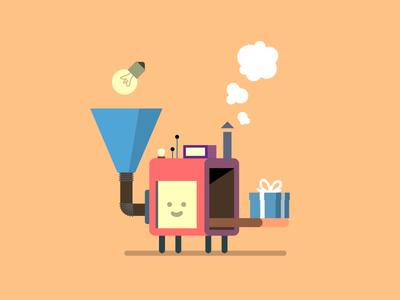 The software machine characterdesign character flat vector robot bot maschine machine illustration