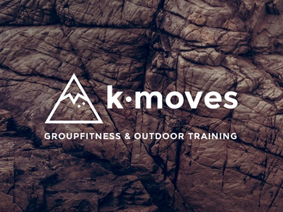 k-moves Logo gstaad triangle mountain flat graphic design corporate design logo workout training outdoor fitness k-moves