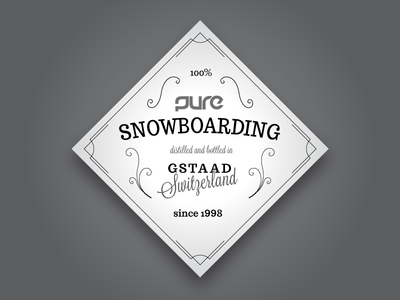 Sticker for a Snowboard Shop, Tequila Style