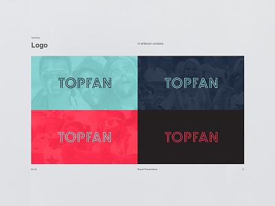 Topfan - App logo sport scandinavian nordic soccer football ux identity brand design interaction app