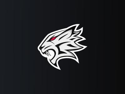 white tiger logo esport