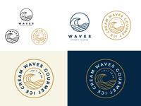 Waves Ice Cream Logo Concept