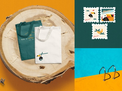 Tote Bags and Stamps | Toucan Shirt Co.