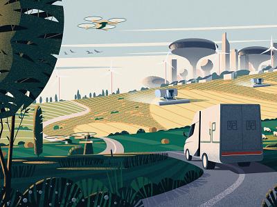 Agrosoros cover business cover magazine illustration editorial