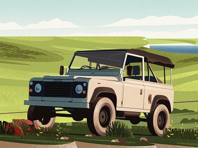 Land Rover Defender defender illustration magazine land rover car