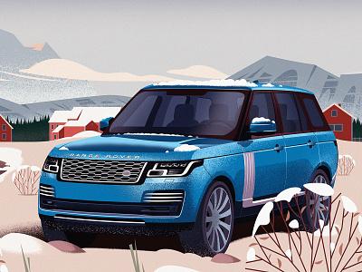 Range Rover magazine cover illustraion rangerover car