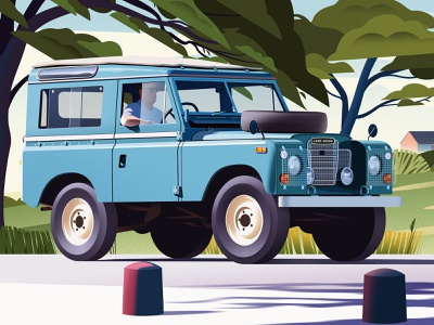 Land Rover car land rover illustration business magazine