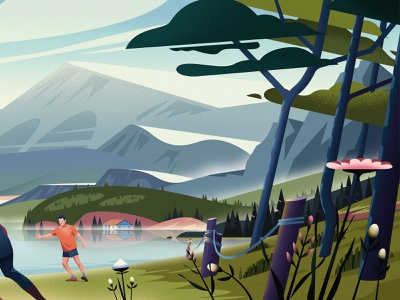 ActiVilla nature illustration magazine characters summer